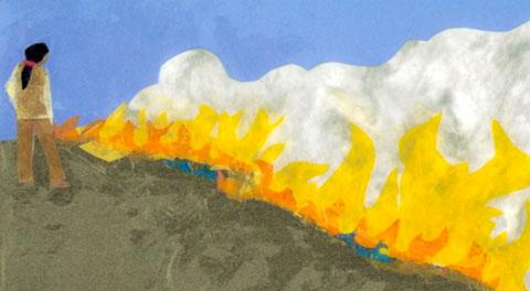 """Prairie Grass Fire"" by Carolyn Wing Greenlee"